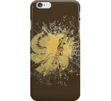 Music Poster with Guitar 4 iPhone Case/Skin
