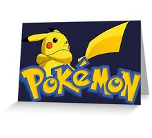 pokemon pikachu anime manga shirt Greeting Card