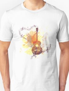 Music Poster with Guitar 5 T-Shirt