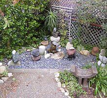 Corner Fountain by Sandra Gray