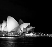 Sydney Opera House in Black and White by Martin Pot