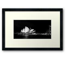 Sydney Opera House in Black and White Framed Print