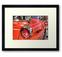 Shiny Red Car - Birdwood Motor Museum Framed Print