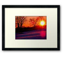 A January Sunset Framed Print