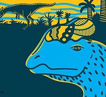 Dilophosaurus Duo Print by David Orr