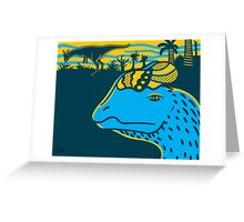 Dilophosaurus Duo Print Greeting Card