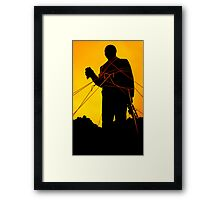 Louis Armstrong Statue Framed Print