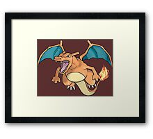 pokemon charizard anime manga shirt Framed Print