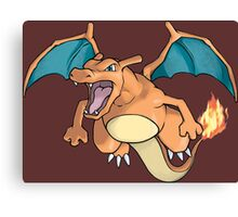 pokemon charizard anime manga shirt Canvas Print