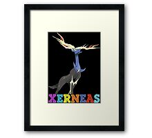 pokemon xerneas anime manga shirt Framed Print