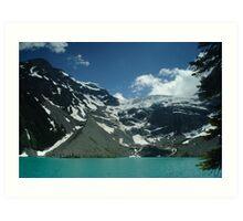 Upper Joffre Lake and Glaciers beyond Art Print