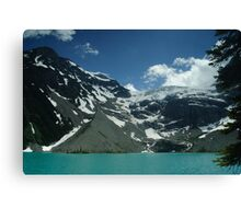 Upper Joffre Lake and Glaciers beyond Canvas Print