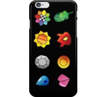 pokemon kanto badges anime manga shirt iPhone Case/Skin