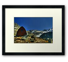 Wedgemount Hut  HDR Framed Print