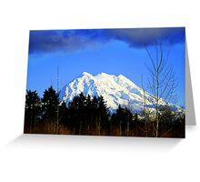 Mt. Rainier in HDR Greeting Card