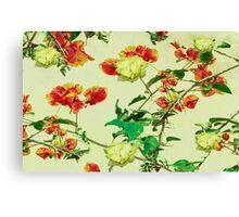 Vintage Style Floral Design Canvas Print