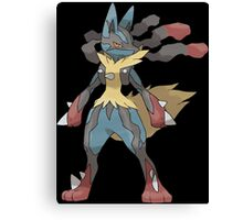 pokemon lucario anime manga shirt Canvas Print