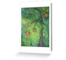 Peach Tree Greeting Card