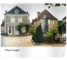 Dordogne - Village of Daglan Poster
