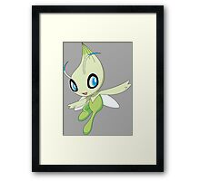 pokemon celebi anime manga shirt Framed Print