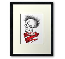 Skull Punk Rock Framed Print