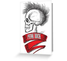 Skull Punk Rock Greeting Card