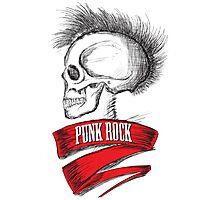 Skull Punk Rock Photographic Print