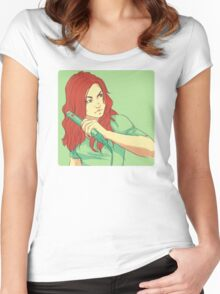 FLAT IRON Women's Fitted Scoop T-Shirt