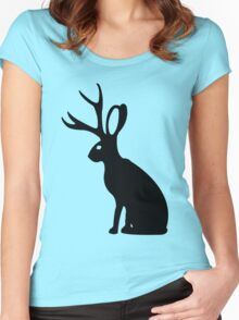 Jackalope geek funny nerd Women's Fitted Scoop T-Shirt