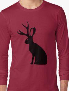 Jackalope geek funny nerd Long Sleeve T-Shirt