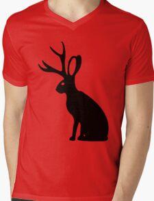 Jackalope geek funny nerd Mens V-Neck T-Shirt