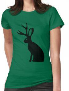 Jackalope geek funny nerd Womens Fitted T-Shirt