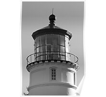 Lighthouse in Black and White Poster