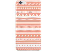 Coral White Tribal pattern iPhone Case/Skin