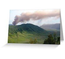 Smoke from Gunung Bromo Greeting Card
