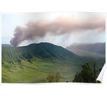 Smoke from Gunung Bromo Poster