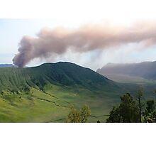 Smoke from Gunung Bromo Photographic Print