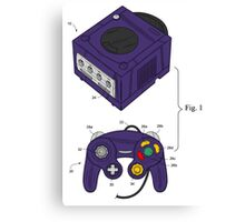 Game Cube and a Controller Canvas Print