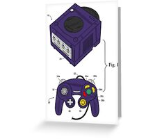 Game Cube and a Controller Greeting Card