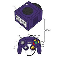 Game Cube and a Controller Photographic Print