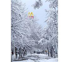 MACDONALDS  UFA USSR Photographic Print