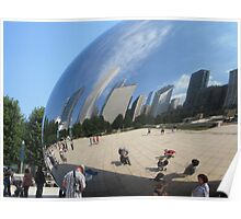 "Reflected in ""The Bean"" Poster"
