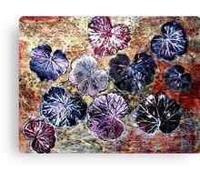 December's Garden Monoprint 3 Canvas Print