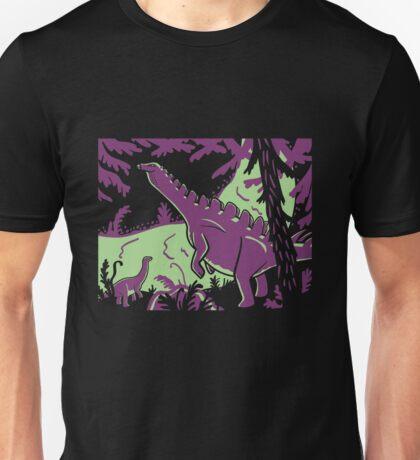 Long Necks - Green and Purple Unisex T-Shirt