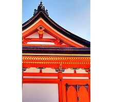 Temple Building, Kyoto Japan Photographic Print