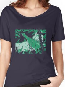 Long Necks - Blue and Green Women's Relaxed Fit T-Shirt