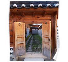 Korea traditional architecture-house gate Poster