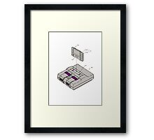SNES and Cartridge Framed Print