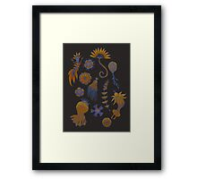 Sea Ballet in Psychedelic Colors, more apologies to Ernst Haeckel Framed Print