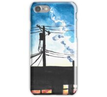Condos at Dusk Watercolour Landscape Painting iPhone Case/Skin